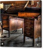 Old Desk In The Attic Acrylic Print