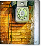 Old Dial Phone Acrylic Print