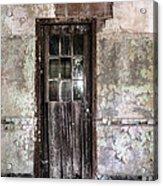Old Door - Abandoned Building - Tea Acrylic Print by Gary Heller