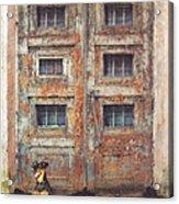 Old Door - Aged - Cracked - Abandoned Acrylic Print