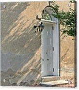 Old Door And Stucco Wall Acrylic Print