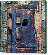 Old Door At Abandoned Prison Acrylic Print