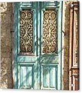 Old Door In Jersusalem Israel Acrylic Print