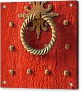 Old Door Knocker Acrylic Print