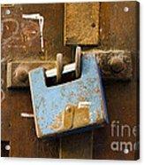 Old Door Padlock Acrylic Print
