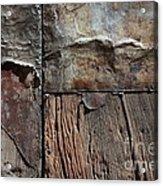 Old Door Textures Acrylic Print