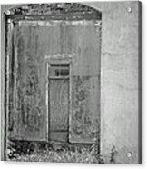 Old Doorway Bw Acrylic Print