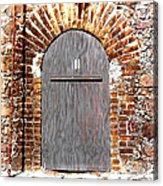 Old Doorway Of Pidgeon Island Fort Acrylic Print