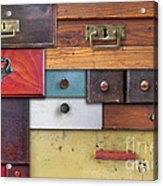 Old Drawers - In Utter Secrecy Acrylic Print
