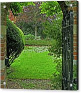 Old English Garden Acrylic Print
