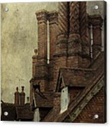 Old English House With Cat Acrylic Print