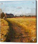 Old English Landscape Acrylic Print by Pixel Chimp
