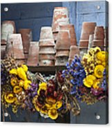 Old English Victorian Potting Shed Acrylic Print by Tim Gainey