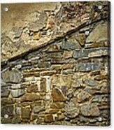 Old Eroded Stone Wall Acrylic Print