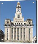 Old European Building On The Bund In Shanghai China Acrylic Print