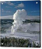 3m09133-01-old Faithful Geyser In Winter - V Acrylic Print