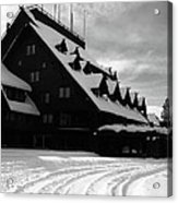 Old Faithful Inn In Winter Acrylic Print