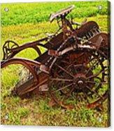 Old Farm Equipment Hardin Montana Acrylic Print