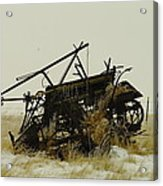 Old Farm Equipment Northwest North Dakota Acrylic Print by Jeff Swan