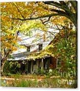 Old Farm House Behind Color Acrylic Print