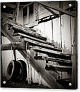 Old Farm Stairs Acrylic Print