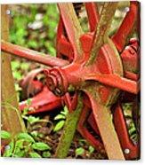 Old Farm Tractor Wheel Acrylic Print