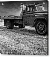 Old Farm Truck Black And White Acrylic Print