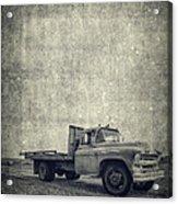 Old Farm Truck Cover Acrylic Print