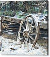Old Farm Wagon Acrylic Print by Nick Payne