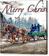 Old Fashion Merry Christmas Acrylic Print