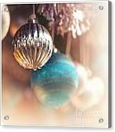 Old-fashioned Christmas Decorations Acrylic Print by Jane Rix