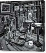 Old Fashioned Dentist Office Bw Acrylic Print