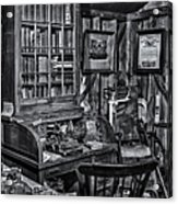 Old Fashioned Doctor's Office Bw Acrylic Print