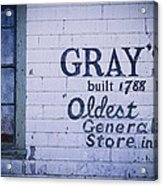 Old Fashioned General Store Abandoned Acrylic Print