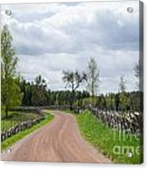 Old Fashioned Gravel Road Acrylic Print