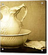 Old Fashioned Pitcher And Basin Acrylic Print