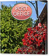 Old Fashioned Post Office Sign Acrylic Print