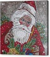 Old Fashioned Santa Acrylic Print
