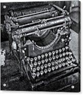 Old Fashioned Underwood Typewriter Bw Acrylic Print