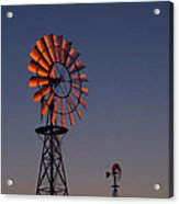 Old Fashioned Wind Mill Acrylic Print