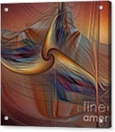 Old-fashionened Swing Boat In The Afterglow Acrylic Print