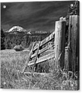 Old Fence At Mount Lassen Acrylic Print
