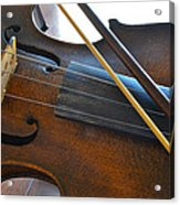 Old Fiddle And Bow Still Life 2 Acrylic Print