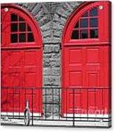 Old Fire Hall Doors Acrylic Print