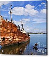 Old Fishing Ship Wreck Acrylic Print