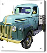 Old Flat Bed Ford Work Truck Acrylic Print