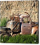 Old Flatbed International Truck Acrylic Print