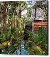Old Florida Watermill I Acrylic Print