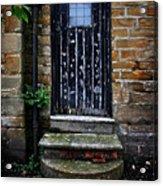 Old Forgotten Black Front Door Acrylic Print