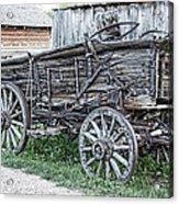 Old Freight Wagon - Montana Territory Acrylic Print